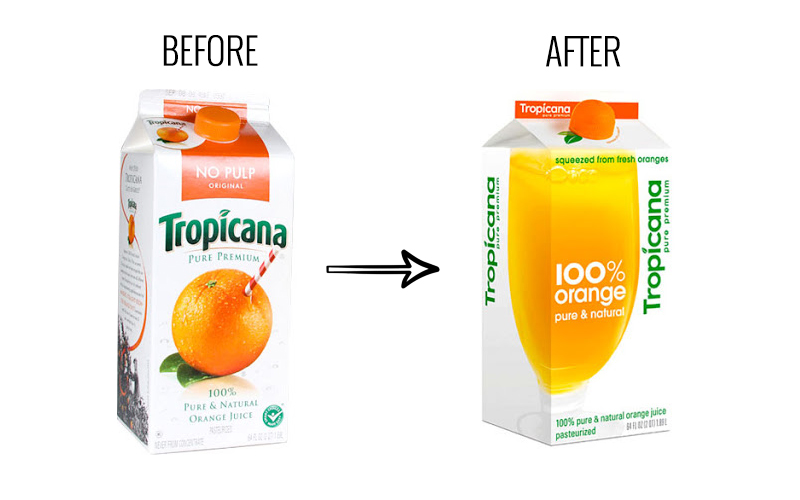 Tropicana's packaging redesign